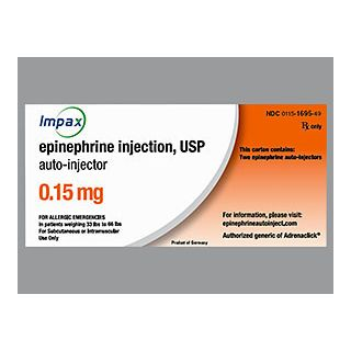 EPINEPHRINE 0.15MG INJ 2CT