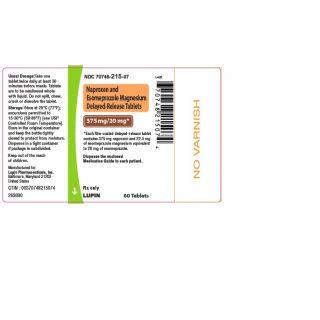NAPROXEN/ESOMEPRAZOLE MAGNESIUM TAB 375-20MG 60 DR