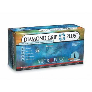 GROUND SHIP GLOVE L 100/Bx Latex Microflex DGP-350-L Diamond Grip Plus Exam Grade Disposable