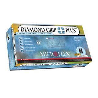 GROUND SHIP GLOVE SM 100/BX Latex Microflex DGP-350-S Diamond Grip Plus  Exam Grade Disposable